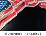 american flag on dark background | Shutterstock . vector #494835631