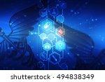 2d illustration medical... | Shutterstock . vector #494838349