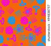 seamless     pattern of ... | Shutterstock .eps vector #494838757
