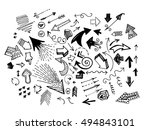 hand drawn doodle arrow icon...