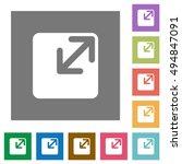 resize window flat icon set on... | Shutterstock .eps vector #494847091