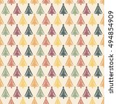 seamless pattern with colorful... | Shutterstock .eps vector #494854909
