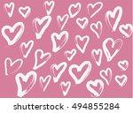 love vector pattern | Shutterstock .eps vector #494855284