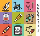 assorted medical devices... | Shutterstock .eps vector #494859985