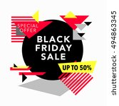 black friday sale and special... | Shutterstock .eps vector #494863345
