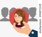 human resource design | Shutterstock .eps vector #494872135