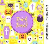 halloween trick or treat trendy ...   Shutterstock .eps vector #494875975