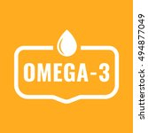 omega   3. badge  icon  logo... | Shutterstock .eps vector #494877049
