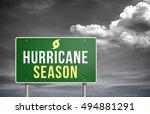 hurricane season | Shutterstock . vector #494881291