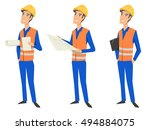 set of three full length... | Shutterstock .eps vector #494884075
