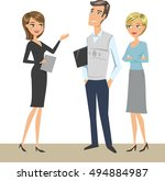 group of people  colleagues ... | Shutterstock .eps vector #494884987