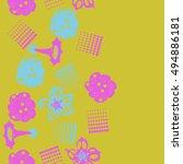 seamless    vertical  pattern... | Shutterstock . vector #494886181