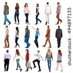 """collection """" back view of...   Shutterstock . vector #494897155"""