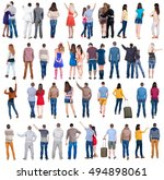 collection back view people .... | Shutterstock . vector #494898061