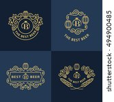line graphics monograms. logo... | Shutterstock .eps vector #494900485