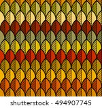 seamless pattern. autumn leaves....   Shutterstock .eps vector #494907745