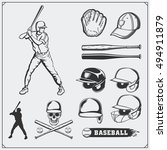 baseball club emblems  labels... | Shutterstock .eps vector #494911879