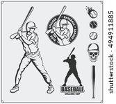 baseball club emblems  labels... | Shutterstock .eps vector #494911885