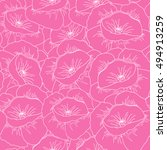 seamless pattern with flowers.... | Shutterstock .eps vector #494913259