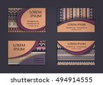 business card or visiting card... | Shutterstock .eps vector #494914555