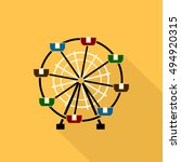 ferris wheel. flat sign icon.... | Shutterstock .eps vector #494920315