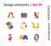 business design elements   icon ... | Shutterstock .eps vector #49492093