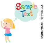 frame template with happy girl... | Shutterstock .eps vector #494931265
