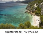 beautiful view of coastline in... | Shutterstock . vector #49493152