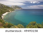 beautiful view of coastline in... | Shutterstock . vector #49493158