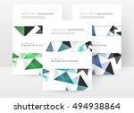 geometric background template...   Shutterstock .eps vector #494938864