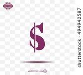 flat dollar icon