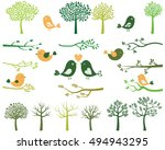 green trees and branches... | Shutterstock .eps vector #494943295