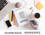 contract concept   Shutterstock . vector #494943991