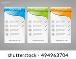 three banner  price list ... | Shutterstock .eps vector #494963704