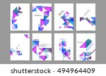 geometric background template... | Shutterstock .eps vector #494964409