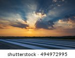 runway  airstrip in the airport ... | Shutterstock . vector #494972995