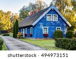 traditional lithuanian wooden... | Shutterstock . vector #494973151