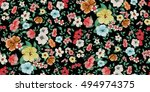seamless floral pattern in... | Shutterstock .eps vector #494974375