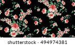 seamless floral pattern in... | Shutterstock .eps vector #494974381