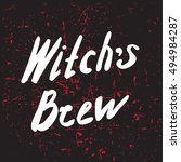 halloween grunge modern... | Shutterstock .eps vector #494984287