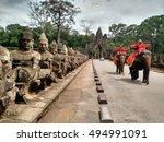 siem reap  cambodia   august... | Shutterstock . vector #494991091