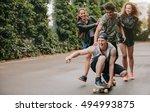 full length shot of teenage... | Shutterstock . vector #494993875
