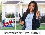 african american real estate... | Shutterstock . vector #495003871