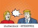 hillary clinton versus donald... | Shutterstock .eps vector #495009901