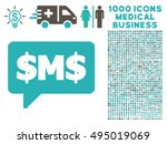 sms bubble icon with 1000...