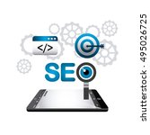 search engine optimization... | Shutterstock .eps vector #495026725