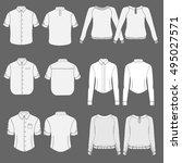 men's and women's clothing set... | Shutterstock .eps vector #495027571