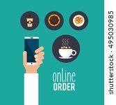 restaurant menu online order... | Shutterstock .eps vector #495030985