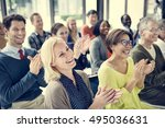 audience applaud clapping... | Shutterstock . vector #495036631