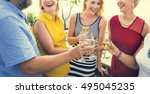group of people party concept | Shutterstock . vector #495045235